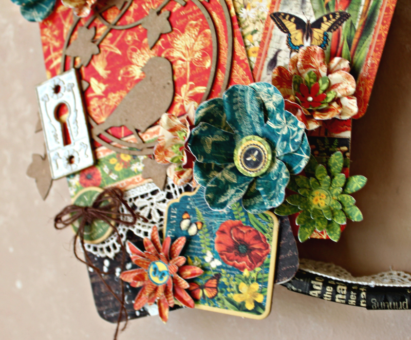 Graphic 45 Nature Sketchbook Happiness Upcycled Embroidery Hoop by Pam Bray - Photo 8_4680
