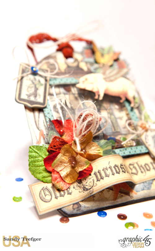 Shaker Tag  Olde Curiosity Shoppe  Tutorial by Sandy Trefger  Product by Graphic 45  Photo 002