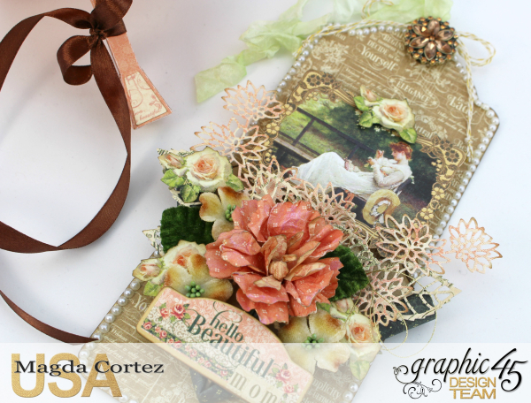 Beautiful Mom Tag- Portrait of a Lady- By Magda Cortez- Product by Graphic 45- Photo 04 of 11