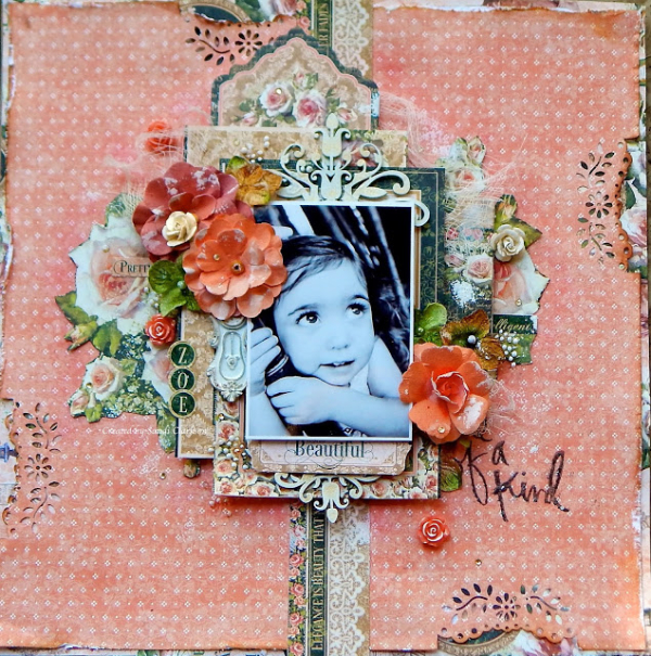 Portrait of a Lady  Graphic 45  Layout  Sandi Clarkson  Soft side of Sandi  One of a Kind  Top Layouts 6