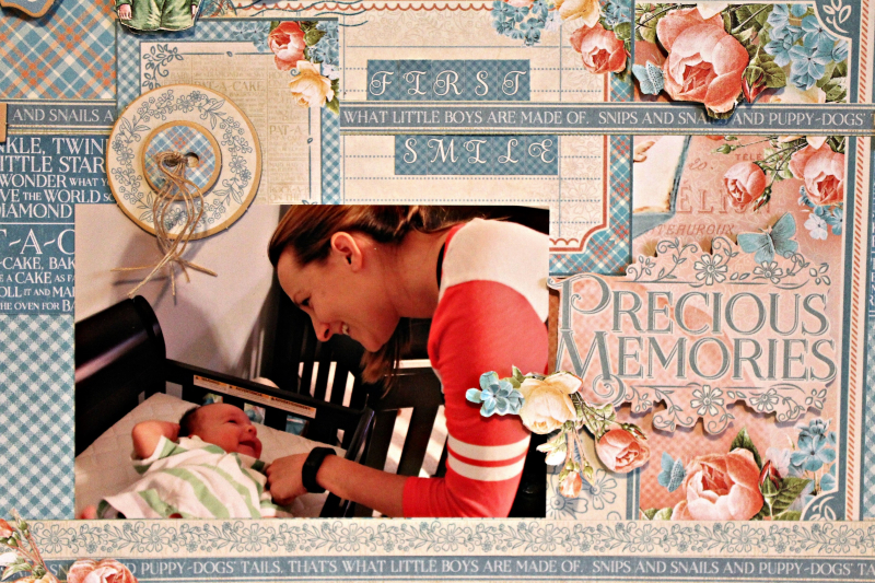 Graphic 45 Precious Moments Layout with Tutorial by Pam Bray - Photo 9_5175