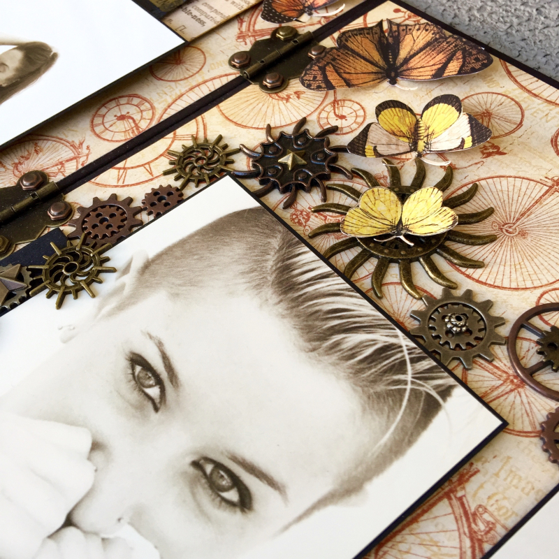 Double LO Olde Curiosity Shoppe Tutorial by Marina Blaukitchen Product by Graphic 45 photo 12