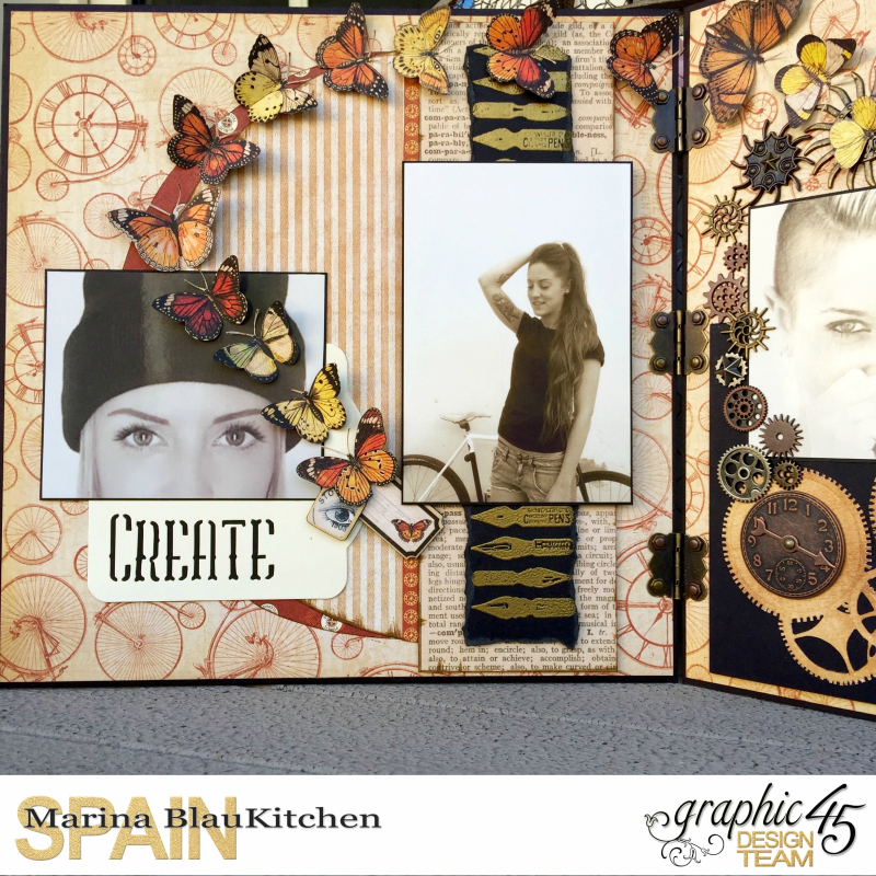 Double LO Olde Curiosity Shoppe Tutorial by Marina Blaukitchen Product by Graphic 45 photo 15