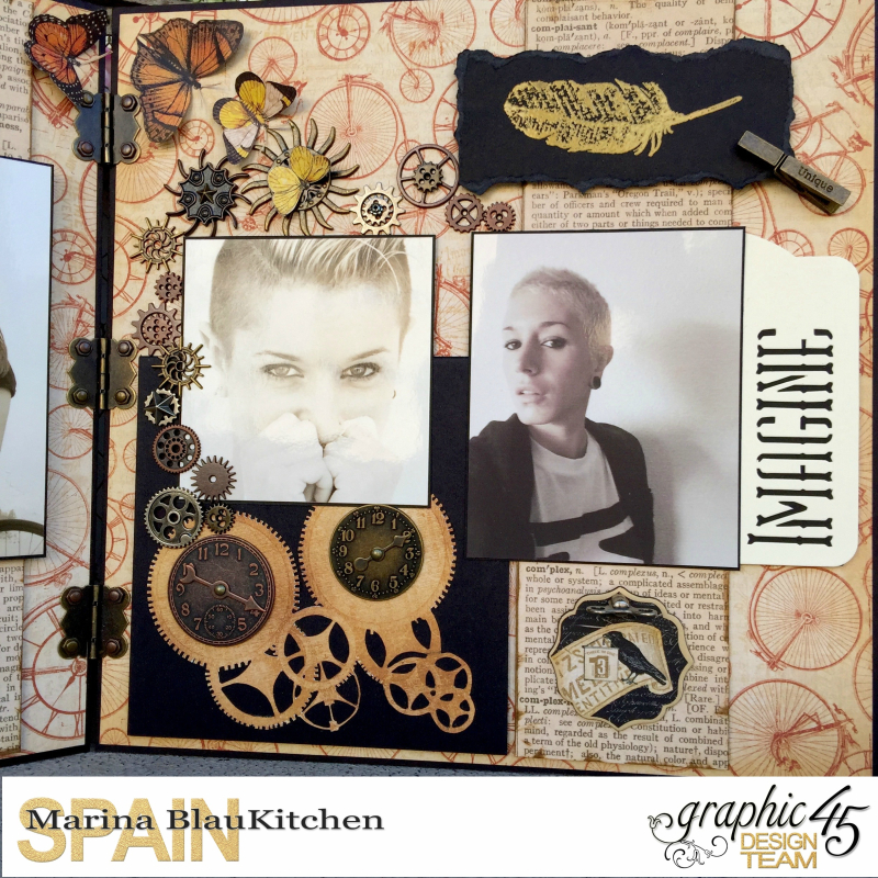 Double LO Olde Curiosity Shoppe Tutorial by Marina Blaukitchen Product by Graphic 45 photo 16