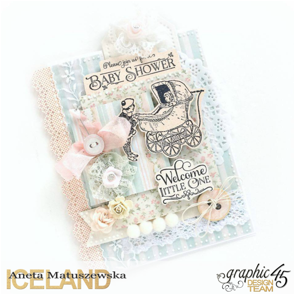 Baby 2 Bride baby shower card for Graphic 45  by Aneta Matuszewska  photo 1