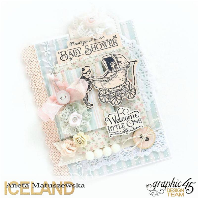 Baby 2 Bride baby shower card for Graphic 45  by Aneta Matuszewska  photo 1