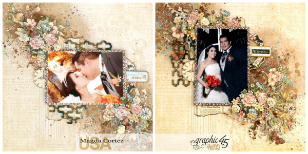 Picture Perfect-Double Layout  A Ladies' Diary  By Magda Cortez  Product By Graphic 45 Photo 01 of 08 with Tutorial