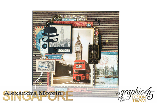 Double Layout  CityScapes  Project by Alexandra Morein  Product by Graphic 45  Photo 3