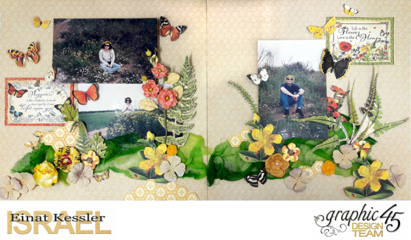 Life is the Flower Layout  Nature Sketchbook  by Einat Kessler  product  Graphic 45  photo 6