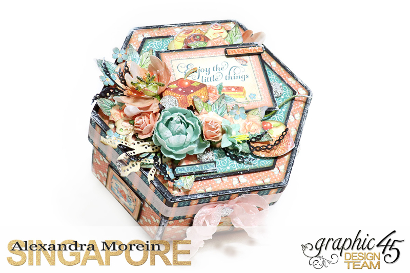Cafe Parisian Hexagon Box  Project by Alexandra Morein  Product by Graphic 45  Photo 1