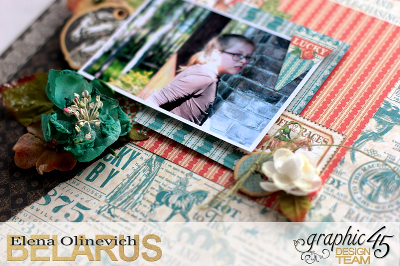 Double Layout  Off to the Races  by Elena Olinevich  product by Graphic45  photo4