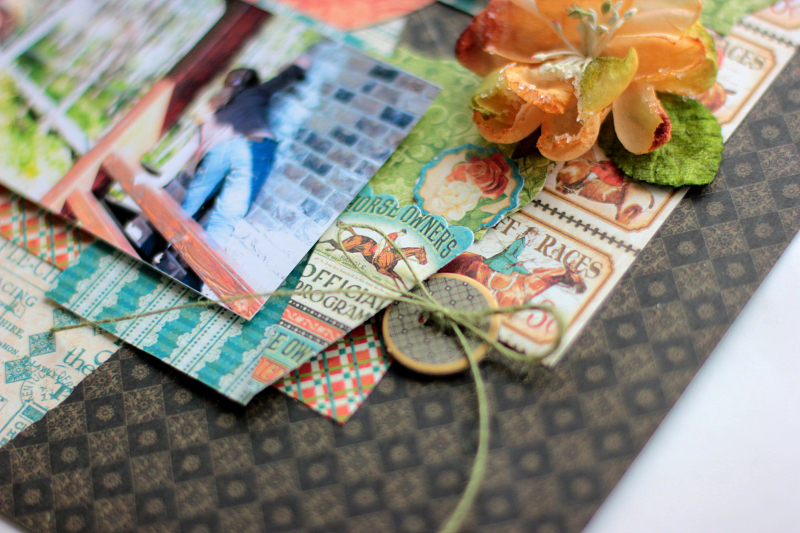 Double Layout  Off to the Races  by Elena Olinevich  product by Graphic45  photo6