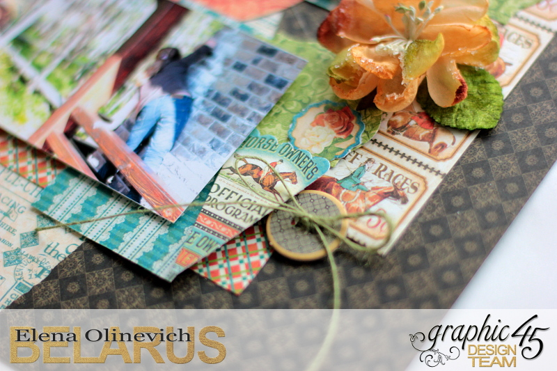 Double Layout  Off to the Races  by Elena Olinevich  product by Graphic45  photo7