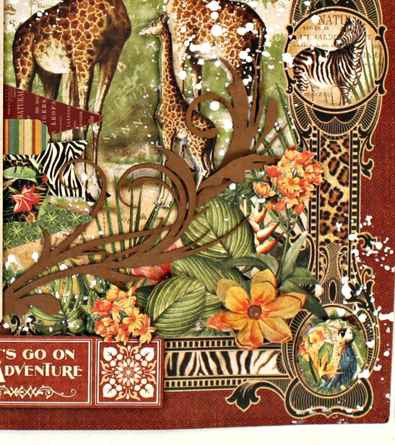 Graphic 45 Safari Adventure Double Layout with Tutorial by Pam Bray - Photo 10_5115