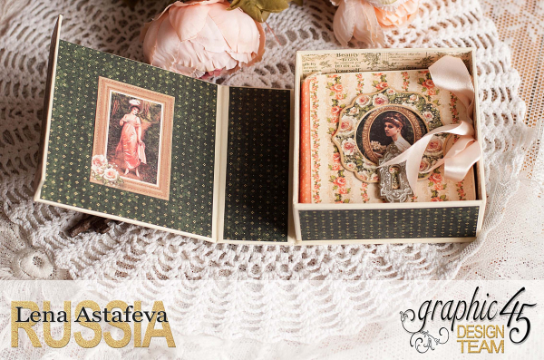 Box and album -Portrait of a Lady- tutorial by Lena Astafeva-product by Graphic 45-52