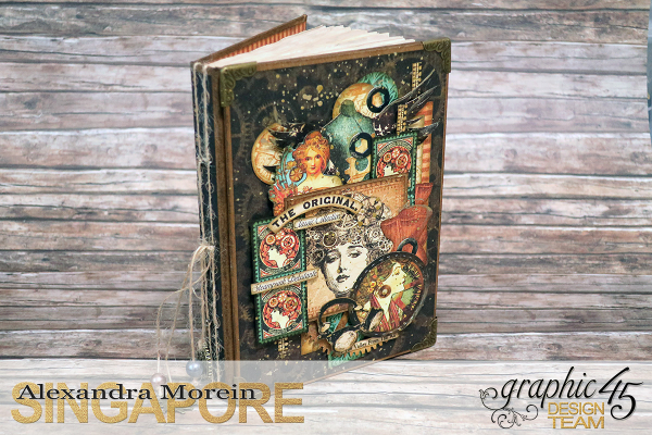 DIY Handbound Notebook  Steampunk Debutante  Project by Alexandra Morein  Product by Graphic 45  Photo 1
