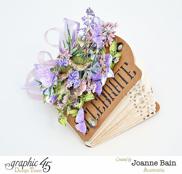 Joanne Bain  Graphic 45  Expanding  Mini  Tutorial  Snapguide 1