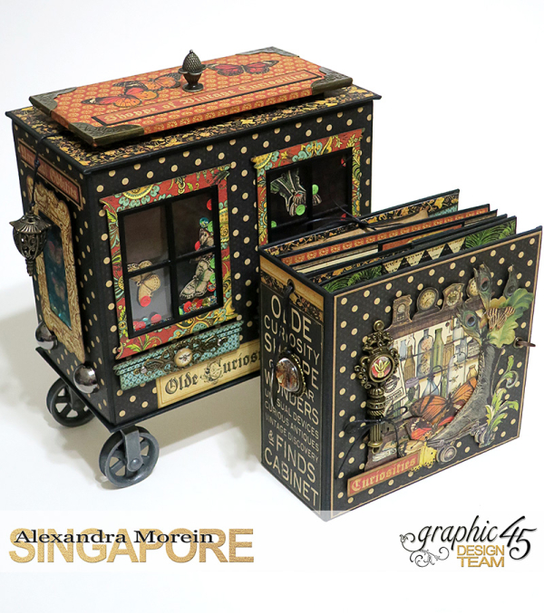 Olde Curiosity Shoppe Wagon  Olde Curiosity Shoppe  Tutorial by Alexandra Morein  Product by Graphic 45  Photo 14