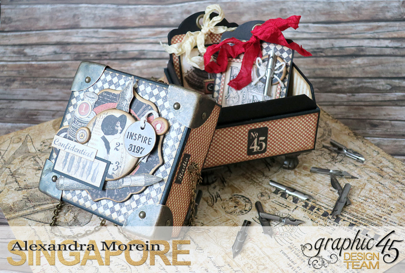 Communique Chain Box  Tutorial by Alexandra Morein  Product by Graphic 45  Photo 4