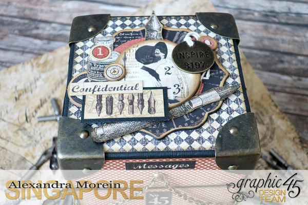 Communique Chain Box  Tutorial by Alexandra Morein  Product by Graphic 45  Photo 2