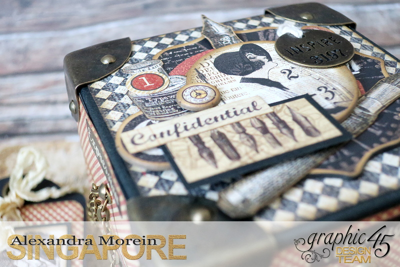 Communique Chain Box  Tutorial by Alexandra Morein  Product by Graphic 45  Photo 8