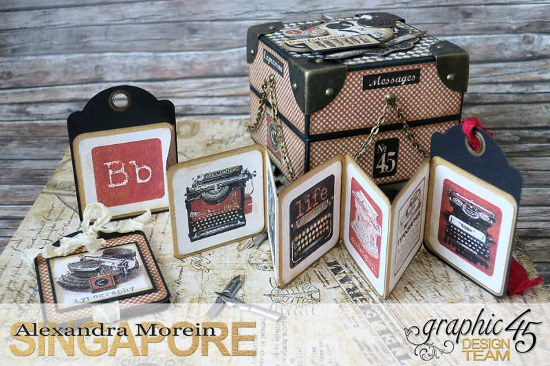 Communique Chain Box  Tutorial by Alexandra Morein  Product by Graphic 45  Photo 6