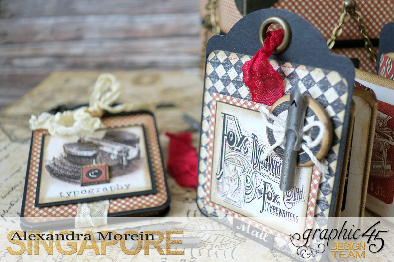 Communique Chain Box  Tutorial by Alexandra Morein  Product by Graphic 45  Photo 7