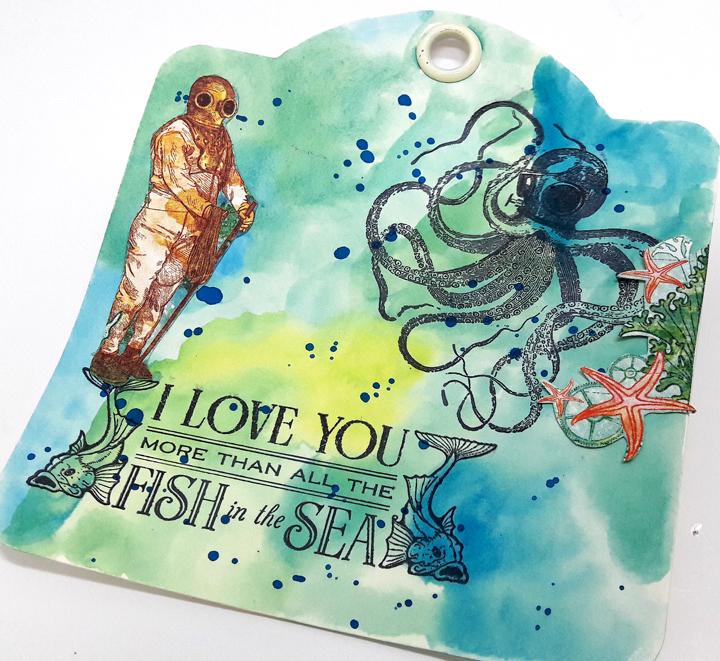 Voyage beneath the Sea Tags  Einat Kessler  Product by Graphic 45  photo 3