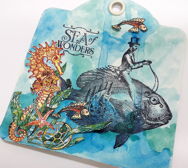 Voyage beneath the Sea Tags  Einat Kessler  Product by Graphic 45  photo 6