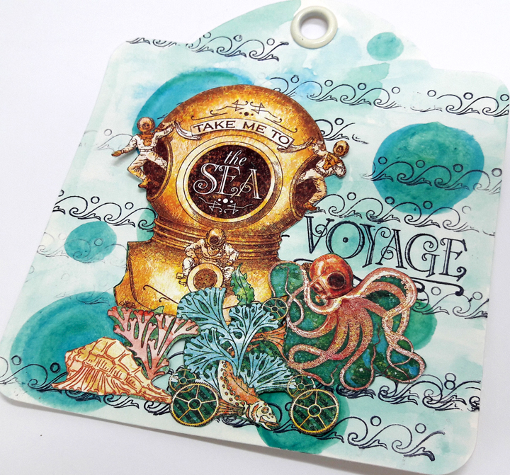 Voyage beneath the Sea Tags  Einat Kessler  Product by Graphic 45  photo 5