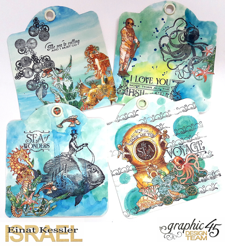 Voyage beneath the Sea Tags  Einat Kessler  Product by Graphic 45  photo 2
