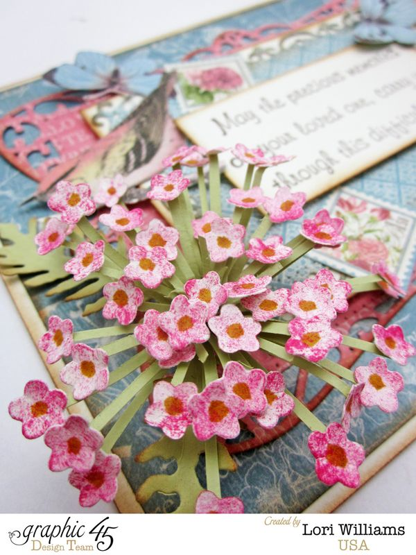 Botanical Tea Graphic 45 sympathy card