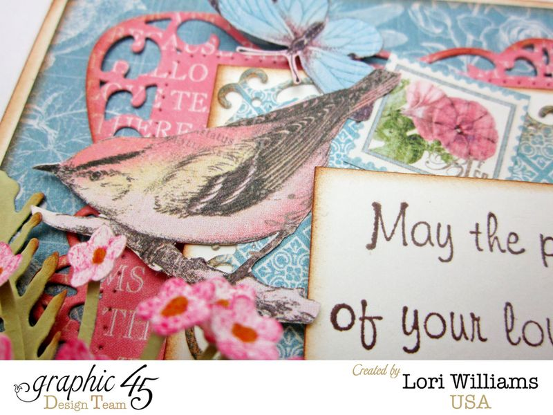 Botanical Tea Graphic 45 Lori Williams Sympathy Card Close Up Two