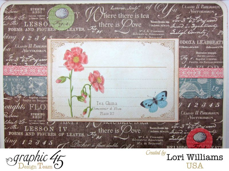 Botanical Tea Graphic 45 Lori Williams Sympathy Card Interior