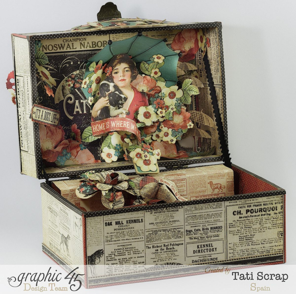Tati Scrap Raining Cats & Dogs Music Box Graphic 45