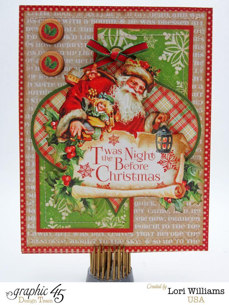 Twas the night before christmas graphic 45 lori williams card