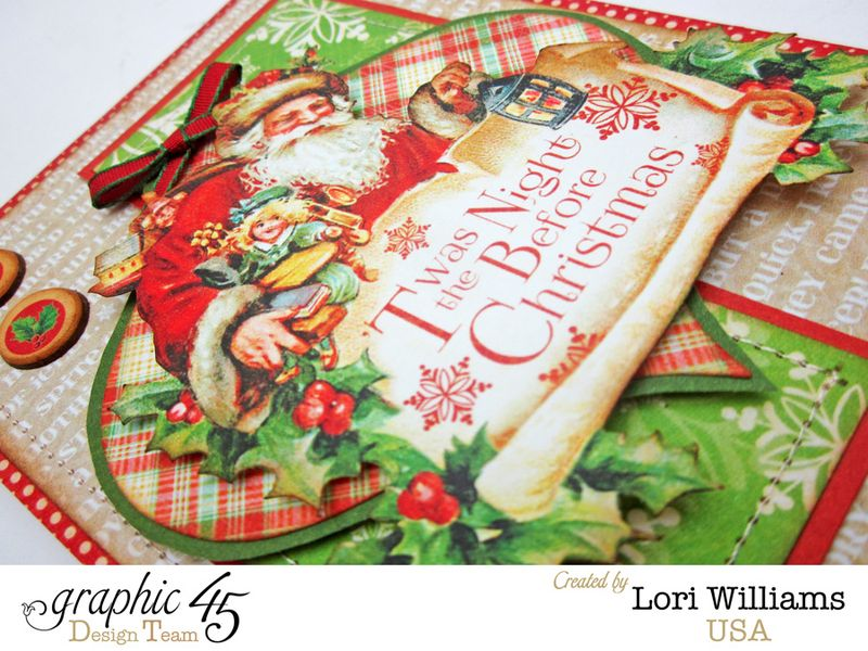Twas the night before christmas card close up lori williams