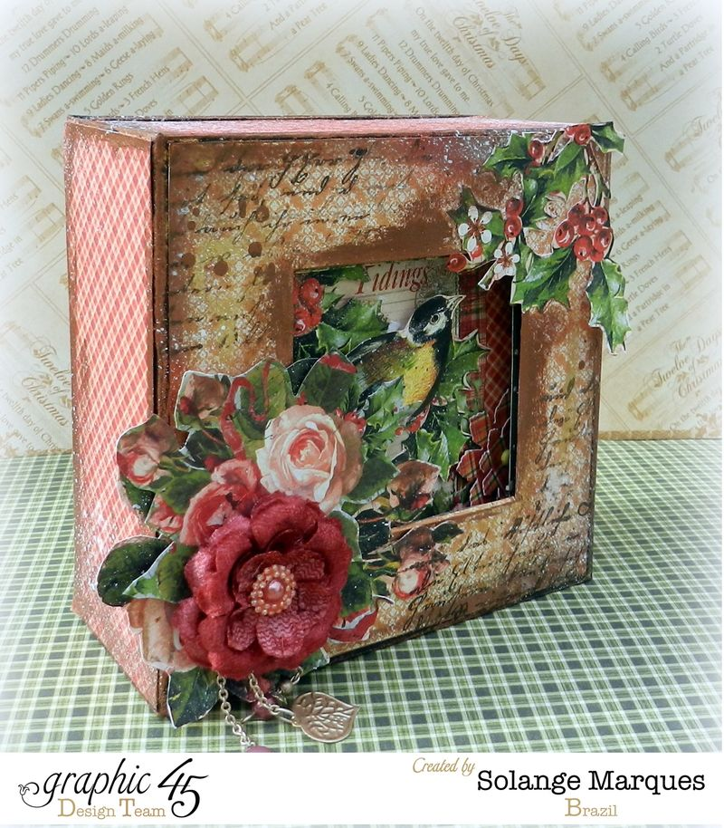 Graphic 45- Core dinations Cardstock- 12 days of Christmas Collection-mini album (1)