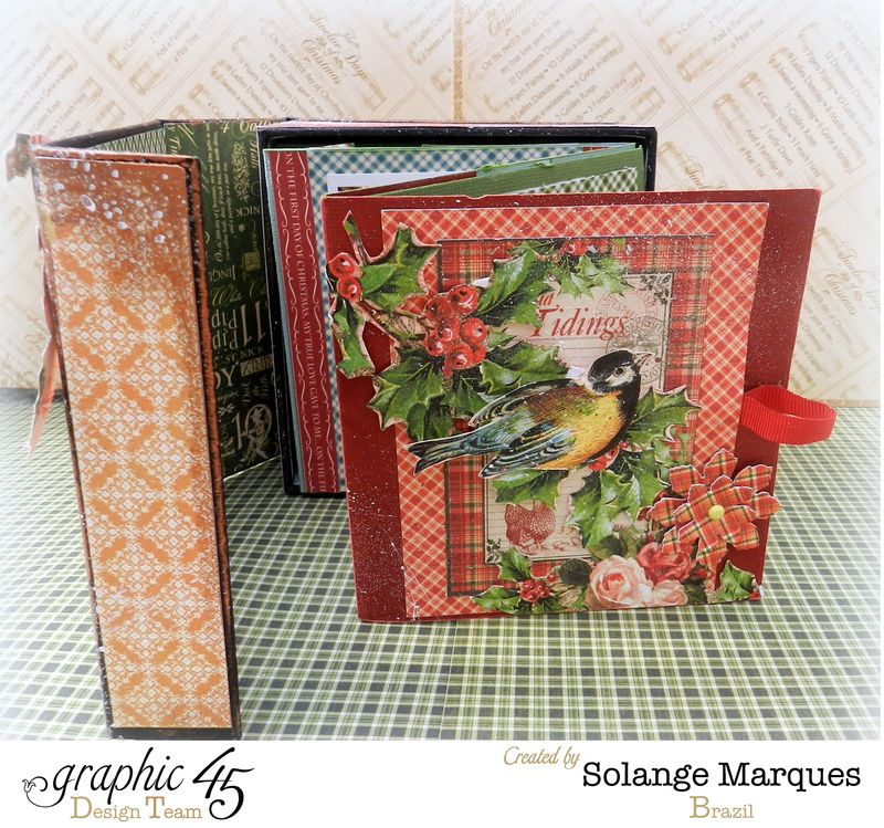 Graphic 45- Core dinations Cardstock- 12 days of Christmas Collection-mini album (3)