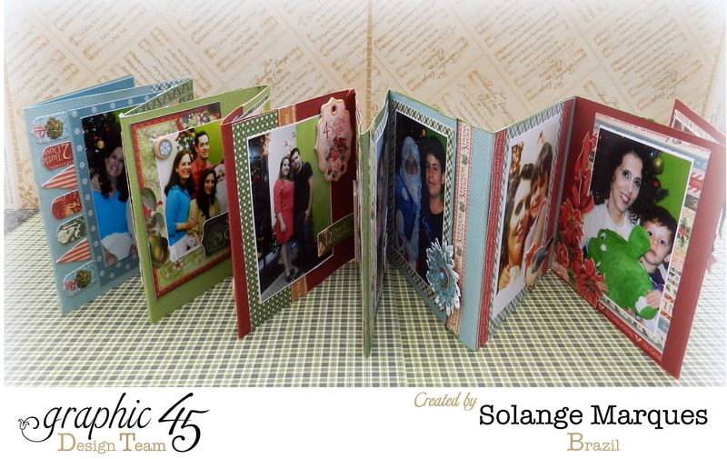 Graphic 45- Core dinations Cardstock- 12 days of Christmas Collection-mini album (6)