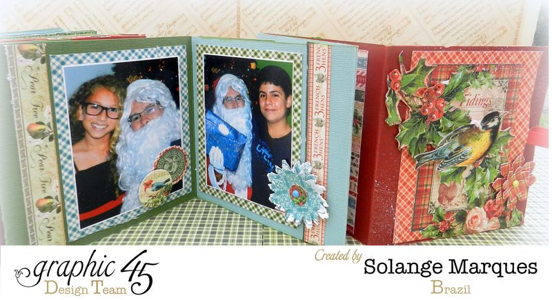 Graphic 45- Core dinations Cardstock- 12 days of Christmas Collection-mini album (15)