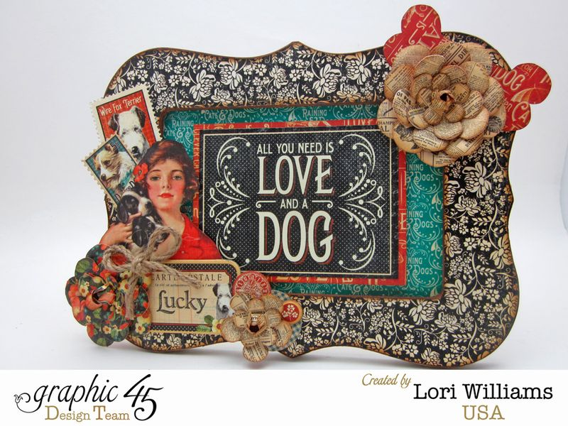 Raining Cats and Dog G45 Lori Williams Picture Frame