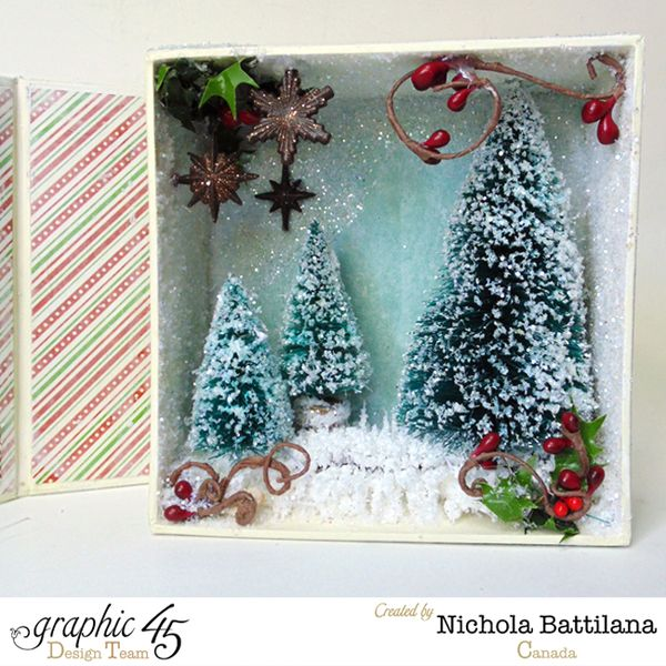 Snowy Media Box for Graphic 45 by Nichola Battilana