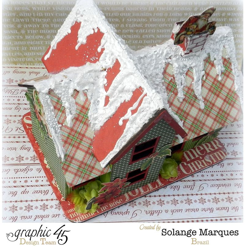 Graphic 45 project- Christmas  House-Twas the Night Before Christmas  (9)