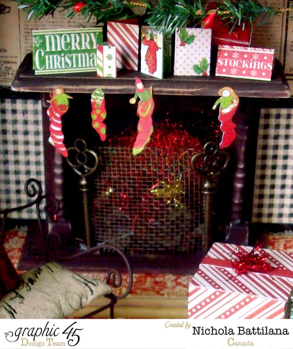 Elf Book Box House with Graphic 45 by Nichola Battilana