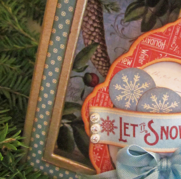 Graphic 45 time to flourish snowman box lori willilams close up of box
