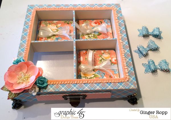 Precious Memories Shadow Box With Feet and Coasters
