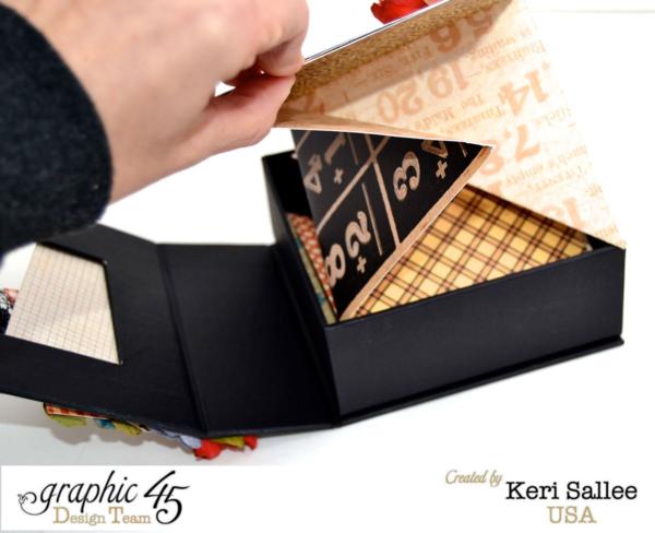 What a fun technique - a dragon fold mini album! By: Keri Sallee using Graphic 45 An ABC Primer