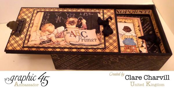 What a fantastic An ABC Primer pencil box and mini album by Clare #graphic45