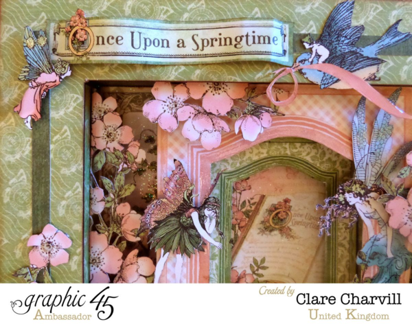 Once Upon A Springtime Shadow Box by Clare Charvill, Graphic 45 Ambassador #graphic45